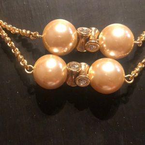 J Crew Pearl & Diamond Necklace